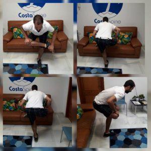 CostaSpine Demonstrates Piriformis Stretch